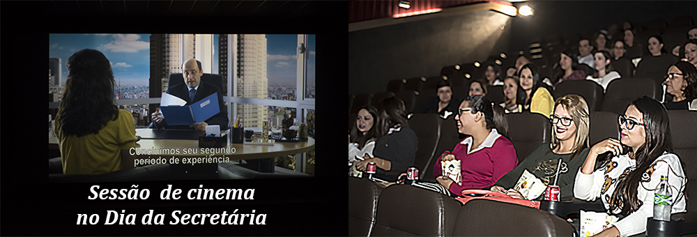 Unipax homenageia secret�rias com sess�o de cinema